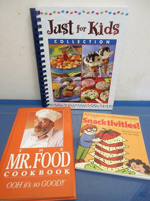 Set of 3 cookbooks, just for kids, snakctivities, Mr Food Cookbook