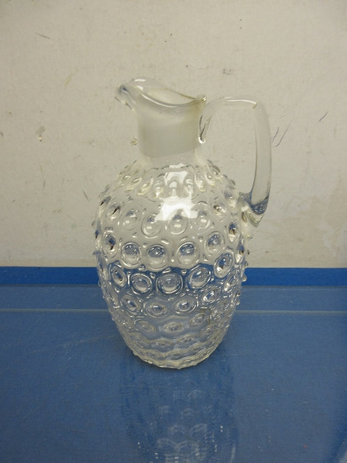 Clear bubble glass pitcher decanter