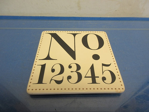 "Yanke Candle square ceramic candle plate ""NO.12345"""