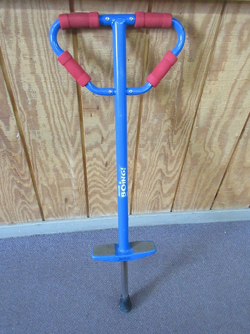 """Boing Pogo stick, red & blue, 40"""" tall"""