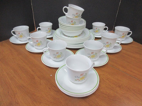 Set of Corelle dinnerware, 45pc service for 6 with extras