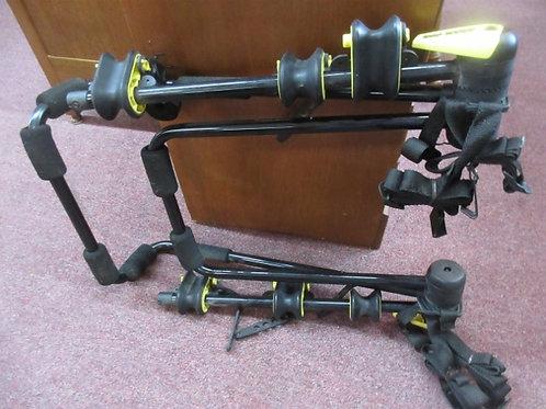 Black and gold bike rack - holds 3 bikes