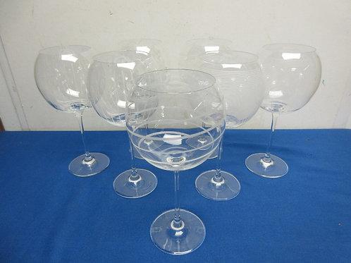 Set of 7 Mikasa balloon wine glases