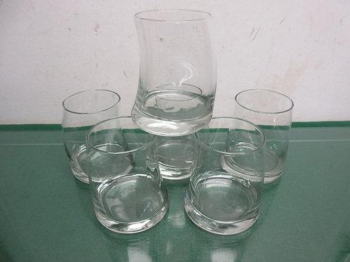 Set of 6 old fashion glasses