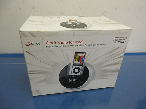GPX digital alarm clock radio with iPod charger, in box