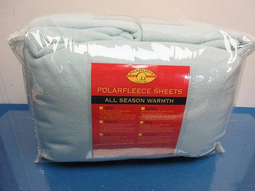 Polarfleece Full size green sheet set, 2 sheets and 4 pillow cases