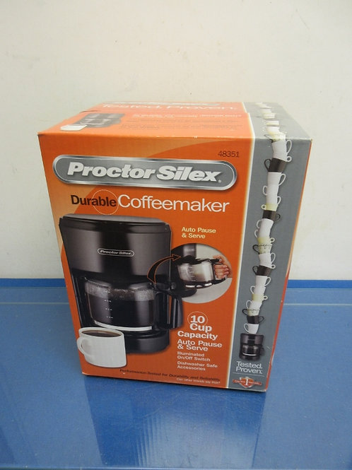 Protor Silex 10 cup coffee maker, New in box,