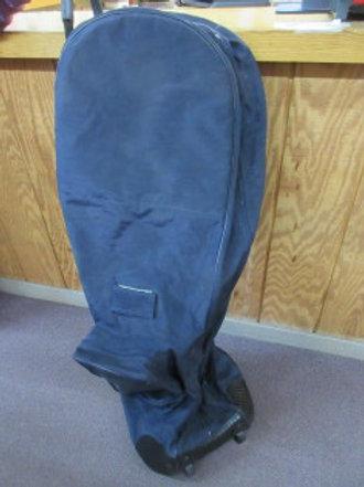 Quazar large navy travel golf bag on wheels, some wear