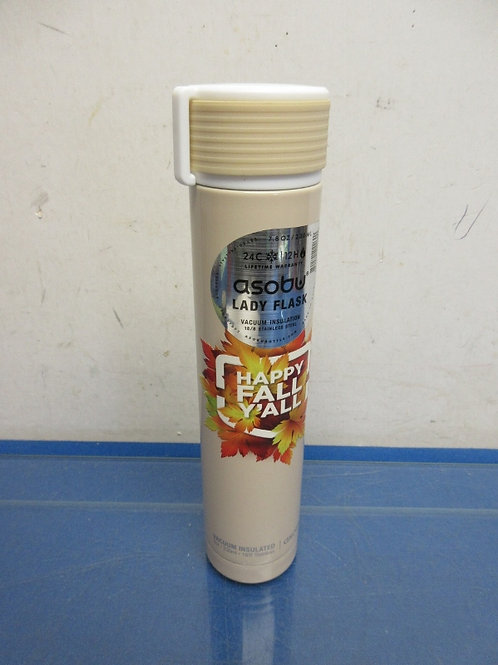 Asobu beige stainless insulated 8oz lady flask, New