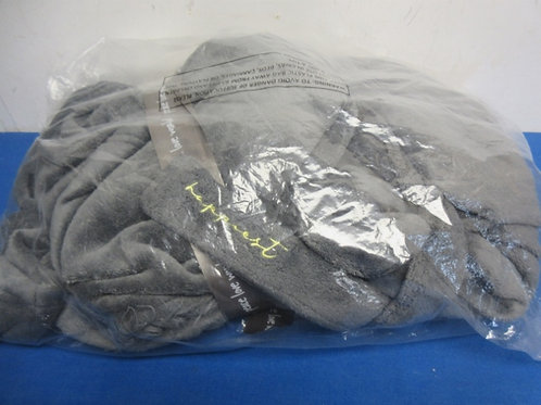 Peace love world faux cozy robe, pewter gray, XL/1X, brand new