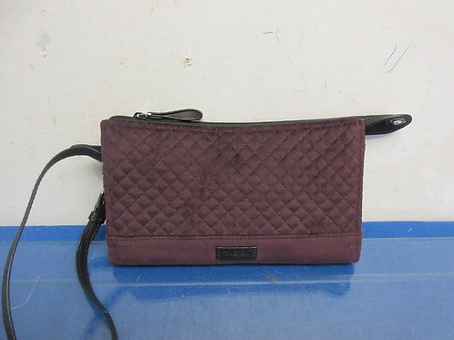 Vera Bradley burgundy clutch with built in RFID protection, New
