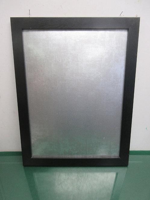 Black wood framed magnetic bulletin board, 17x22