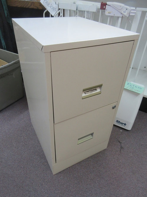 "Beige 2 drawer file cabinet 15x18x28"" high"