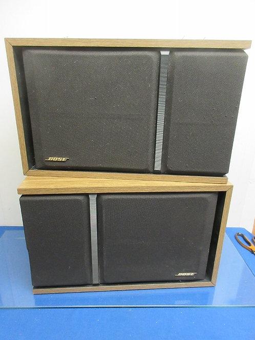 Bose 301 Series iii wood tone framed pair of speakers-no wires-sold as is