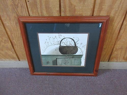 "Pauline Eble Campanell ""Wild Rose Berries""signed print 20x23"" /cherry wood frame"