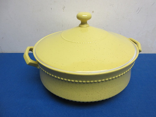 Ernest Sohn yellow ceramic serving bowl with lid