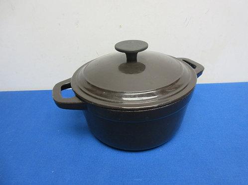 Martha Stewart Collection enameled on cast iron round dutch oven - 4 qt - brown