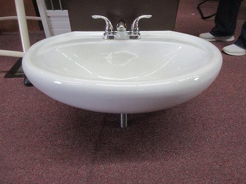 Gerber white pedestal sink top with faucet, no pedestal