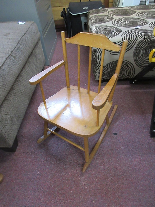 Vintage solid wood children's rocking chair