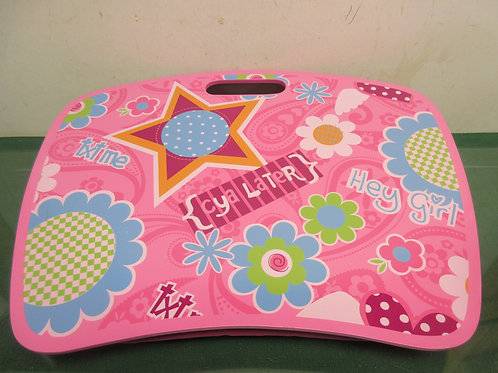 Pink lap gear portable desk top paisley and floral design