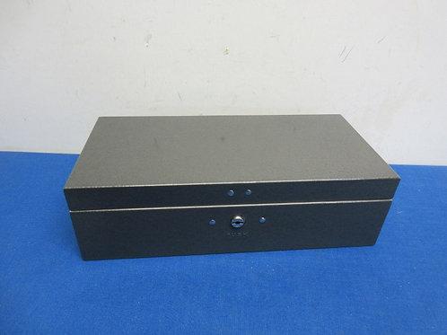 "Metal document storage box, 6x12x3.5""high"