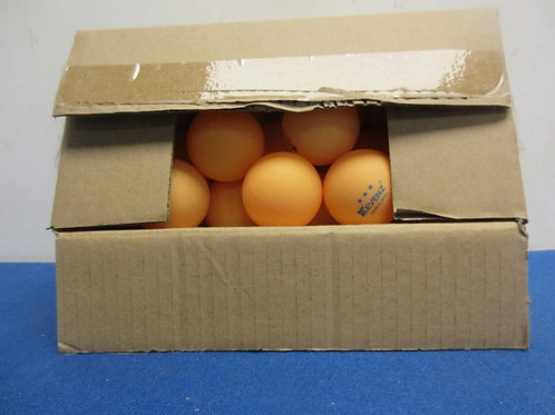 Box of appointmately 50 orange ping pong ball