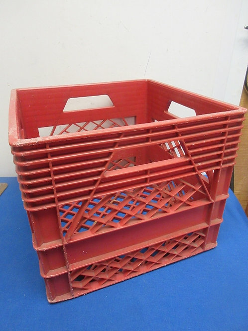 Red milk crate