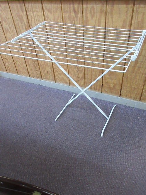 White metal wire style collapsible drying rack