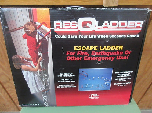Res-Q-ladder, 15ft chain ladder for 2nd floor safety - in box