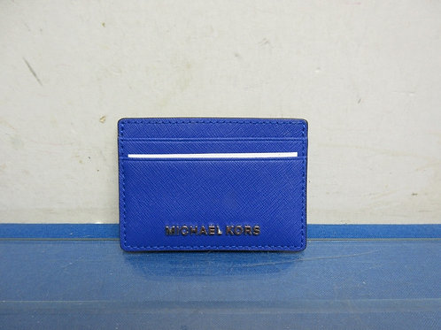 Michael Kors electric blue leather business card holder