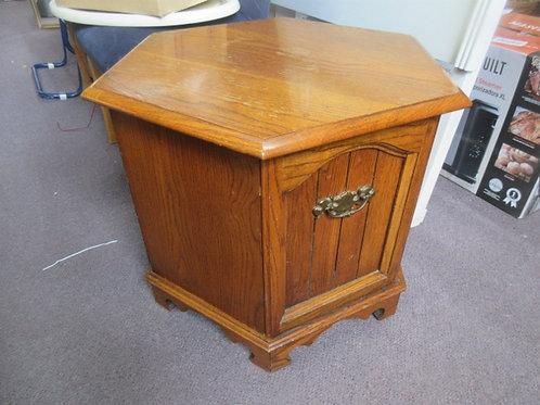 Vintage hexagon storage end table