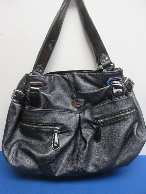 Dolce and Gabbana large leather black purse