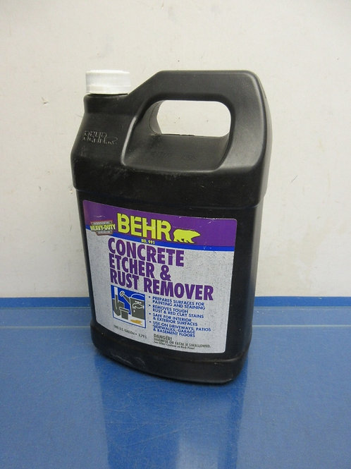 Behr, one gallon of concrete etcher & rust remover, never opened