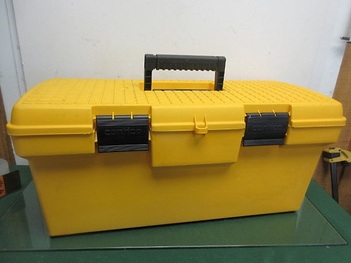 "Yellow Contico large plastic tool box (no tray), 10x23x11""high"
