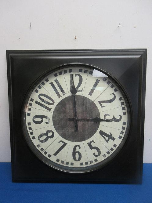Black square wall clock 20x20
