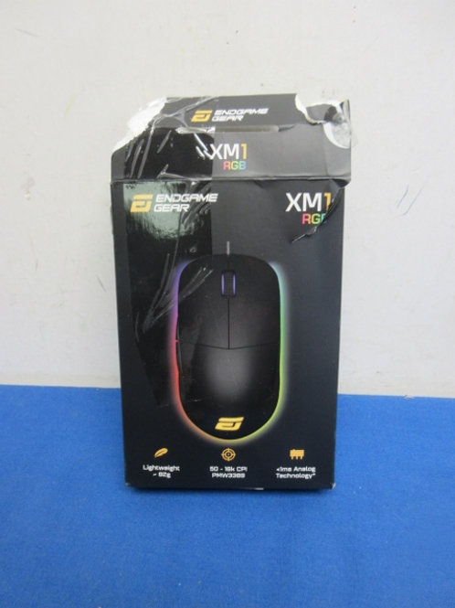 End Game Gear XM1 RGB mouse with usb cord