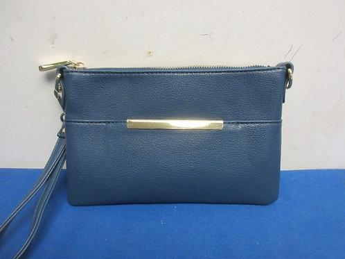 Large dark blue wristlet purse