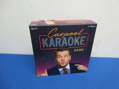 Carpool karaoke game, ages 12& up, New