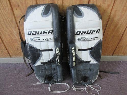 """Bauer Reacor goalie leg pads, 29"""" long, worn"""