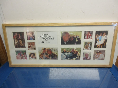Collage 14 slot photo frame with light tone wood frame 13x31, New Sealed, 2 avai