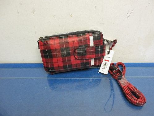 APT-9-red plaid wallet clutch, tags still on