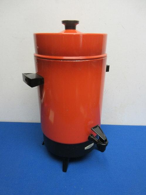 Vintage large orange coffee perculator