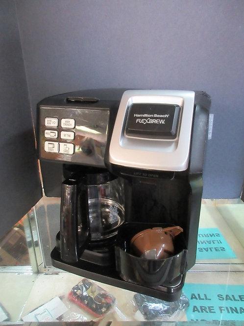 Hamilton Beach flex brew, 2 way coffee maker