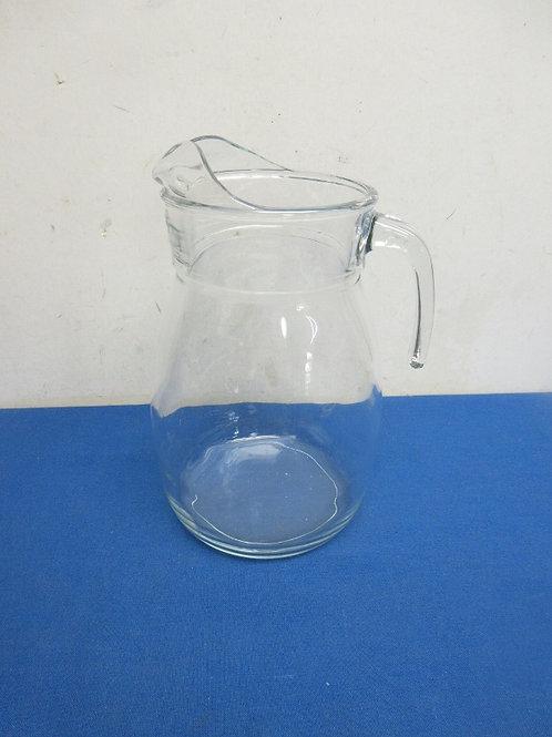 Heavy glass 2 qt. water pitcher