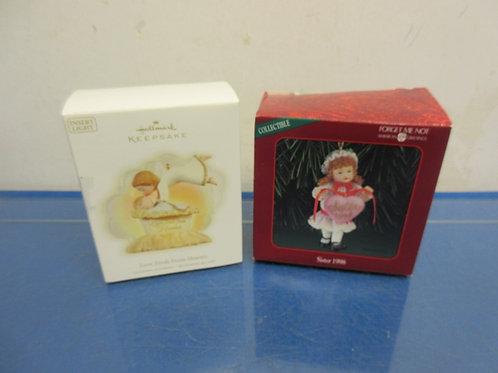 Hallmark keepsake ornaments - set of 2 Love Fresh from heaven & sister 1998