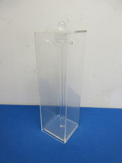 Acrylic clear tall narrow necklace holder with spinning hooks