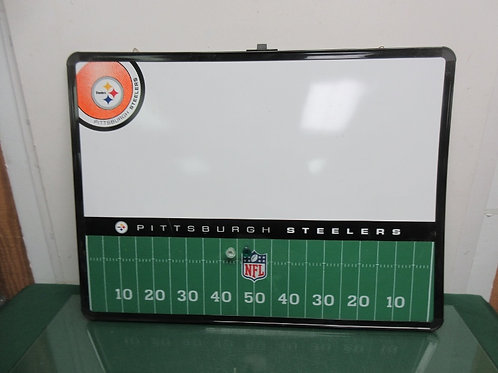 Pittsburgh Steelers white board and football field design cork board - black fra