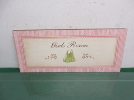 Girls room wall sign 6x14