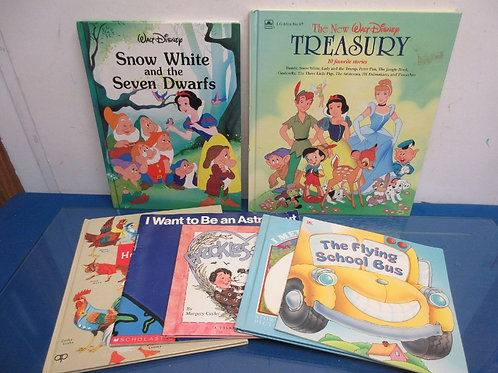 Set of 7 children's books, 2 Disney books, see and say, and more