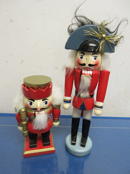 """Pair of red nutcrackers, 6"""" and 10"""""""